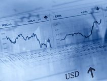Forex market Stock Photography