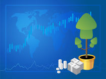 Forex market trading  vector illustration. Forex market trading, Stock Market Investment vector illustration Royalty Free Stock Images