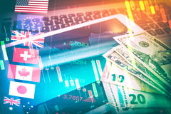 Forex Markets Currency Trading Concept. Stock Image
