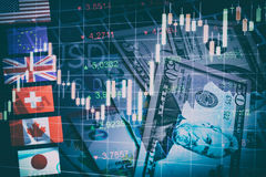 Forex Markets Currency Trading Concept. Royalty Free Stock Photography