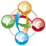 Forex money exchange icon Royalty Free Stock Photo