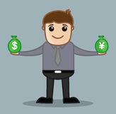 Forex - Office and Business People Cartoon Character Vector Illustration Concept Stock Photo