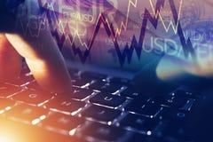 Forex Online Speler stock foto's