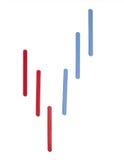 Forex patroon op witte bacground Royalty-vrije Stock Afbeelding