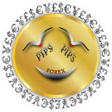 Forex Percentage in Points (PIPS) Stock Image