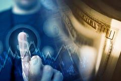 Forex Player Dollar Choosing Royalty Free Stock Images