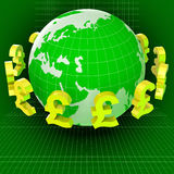 Forex Pounds Indicates Exchange Rate And Gbp Stock Photography