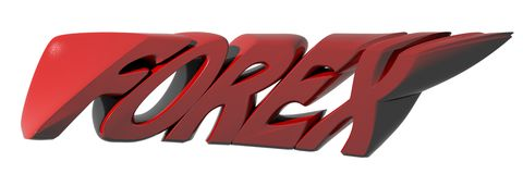 FOREX red Stock Image