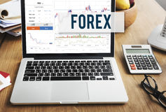 Forex Stock Exchange Graph Global Business Concept Royalty Free Stock Image