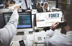 Forex Stock Exchange Graph Global Business Concept Stock Photo