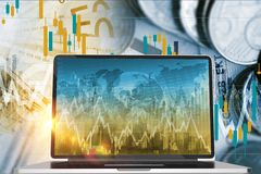 Forex and Stock Exchange Stock Photography