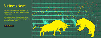 Forex symbols. Vector illustration design for business  website with bear and bull - eps 10 Royalty Free Stock Images