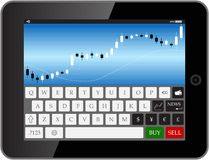 Forex tab Royalty Free Stock Photos