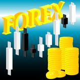 Forex theme Royalty Free Stock Photos