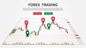 Candlestick chart for forex trade analytics. Forex Trade Buy and Sell Signals vector illustration. Candlestick chart for forex trade analytics graphic design Royalty Free Stock Photo