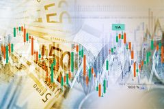 Forex Traders Background Stock Photo