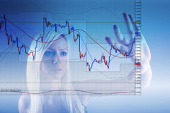 Forex trading. Concept with graph Royalty Free Stock Images
