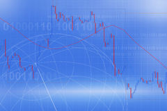 Forex trading. Concept in blue Stock Images