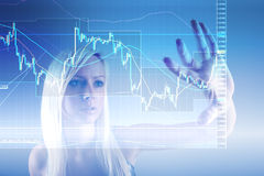 Forex trading. Concept with business woman Royalty Free Stock Photo