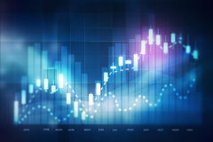 Forex trading background Royalty Free Stock Images