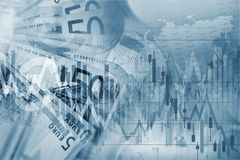Forex Trading Blue Concept Royalty Free Stock Image
