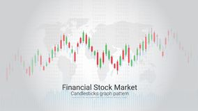 Forex trading candlestick chart on mobile screen. Stock Photos