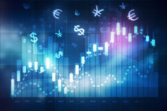 Forex trading chart Royalty Free Stock Photos