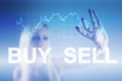 Forex trading concept. Forex trading background concept in blue Stock Image