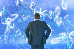 Forex trading concept with businessman Royalty Free Stock Images