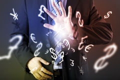 Forex trading concept. With hands of businessman Stock Photo