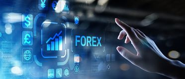 Forex trading Currencies exchange stock market Investment business concept on virtual screen. Forex trading Currencies exchange stock market Investment business royalty free stock photo