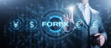 Forex trading currency exchange rate internet investment business concept. vector illustration
