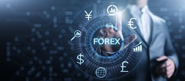 Forex trading currency exchange rate internet investment business concept. royalty free illustration