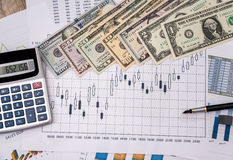 Forex trading with dollar Stock Image