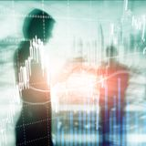 Forex trading, Financial market, Investment concept on business center background. stock illustration