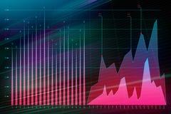 Forex trading graphs stock illustration