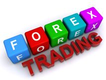 "Forex trading. An illustration of letter blocks and text forming the words ""forex trading Royalty Free Stock Photo"