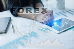 Forex trading, Online investment. Business, internet and technology concept. Royalty Free Stock Photography