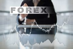 Forex trading, Online investment. Business, internet and technology concept. Stock Photos