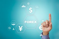 Forex trading, Online investment. Business, internet and technology concept. Forex trading, Online investment. Business, internet and technology concept Royalty Free Stock Images