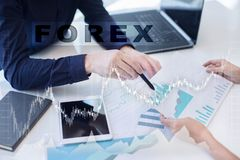 Forex trading, Online investment. Business, internet and technology concept. royalty free stock photos