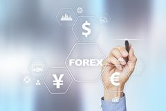Forex trading, Online investment. Business, internet and technology concept. Forex trading, Online investment. Business, internet and technology concept Stock Image