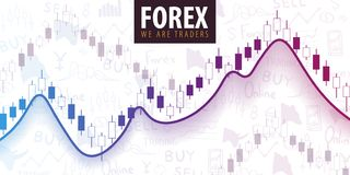 Forex Trading Signals. Candlestick chart in financial market. Vector illustration. Forex Trading Signals. Candlestick chart in financial market. Vector stock illustration