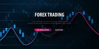 Forex Trading Signals. Candlestick chart in financial market. Vector illustration. Forex Trading Signals. Candlestick chart in financial market. Vector royalty free illustration