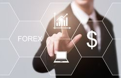 Forex Trading Stock Market Investment Exchange Currence Business Internet Concept Royalty Free Stock Images