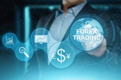 Forex Trading Stock Market Investment Exchange Currency Business Internet Concept royalty free stock image