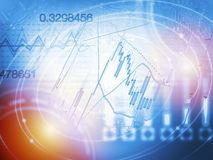 Forex trading technical analysis concept Royalty Free Stock Photo