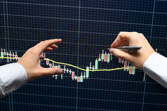 Forex trading technical analysis concept Stock Image