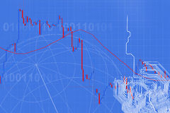 Forex trading technical analysis concept Royalty Free Stock Photos