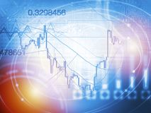 Forex trading technical analysis concept Stock Photography